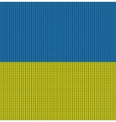 Knitted flag of ukraine vector