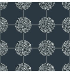 Seamless floral tile background pattern in vector