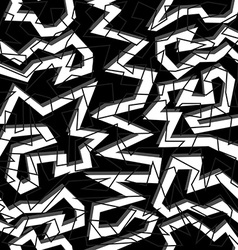 80s geometry seamless pattern in black and white vector