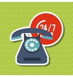 Phone and customer service icon design vector