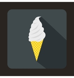 Ice cream icon flat style vector