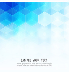 Abstract geometric background template brochure vector