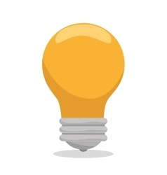bulb social media isolated icon design vector image
