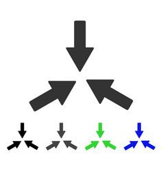 Collide 3 arrows flat icon vector