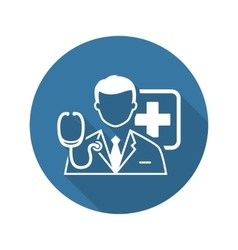 Doctor Consultation Icon Flat Design vector image vector image