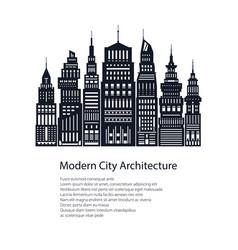 Flyer architecture megapolis vector