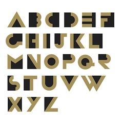 Geometric Retro Alphabet Art deco style Type font vector image vector image