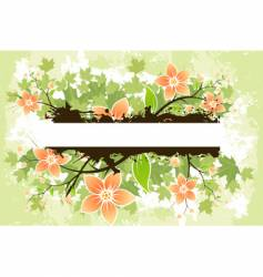 grunge flower background vector image vector image