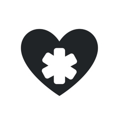 Heart medical health care silhouette icon vector