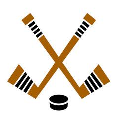 Hockey stick puck designhockey stick puck design vector
