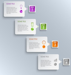 Info graphic steps design template vector image vector image
