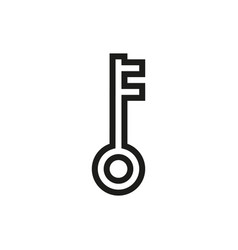 key icon on white background vector image vector image