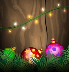 Lighting christmas scene vector