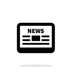 Online news application icon on white background vector image