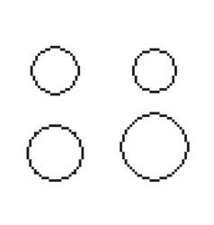 pixel circles set vector image vector image