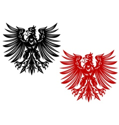 red and black eagles vector image vector image