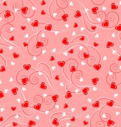 Romantic pattern vector image vector image