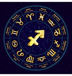 sagittarius in circle vector image vector image