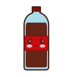 soda bottle kawaii character vector image