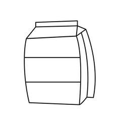 Sugar bag icon vector