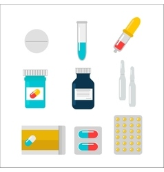Tablet pills vector image vector image