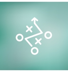 Tic-tac-toe game thin line icon vector