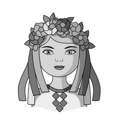 Ukrainianhuman race single icon in monochrome vector