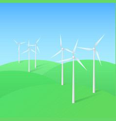 wind turbine farm vector image vector image