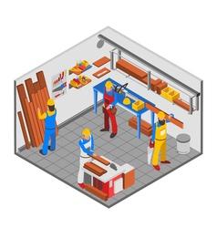 Woodwork people concept vector