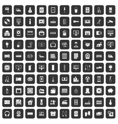 100 appliances icons set black vector