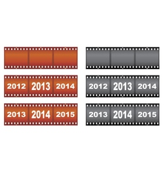 New year filmstrips vector