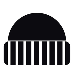 Warm hat icon simple style vector image