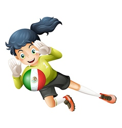 A female football player from Mexico vector image