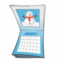 calendar january vector image
