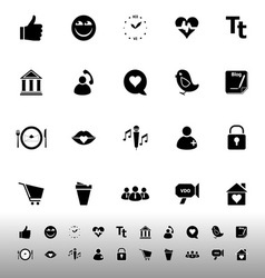 Chat conversation icons on white background vector