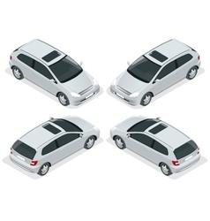 3-door Hatchback car isolated isometric vector image