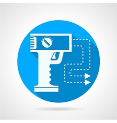 Stun gun flat icon vector