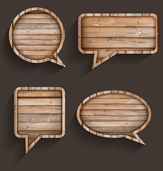 wood sign of speech bubbles template design vector image