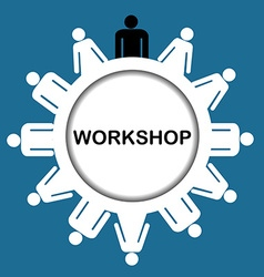 Workshop icon vector