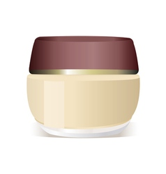Cosmetics container vector