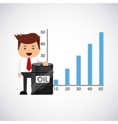 World oil prices design vector image