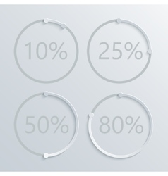 Modern circle percent set background vector
