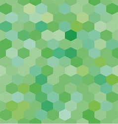 Abstract background green hexagons vector