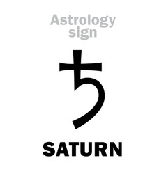 Astrology planet saturn vector