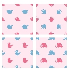 Baby shower related patterns Birds duck vector image