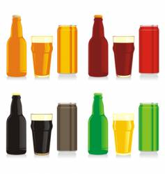 beer brands vector image vector image