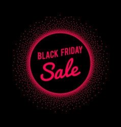 Black friday sale banner with red text signage in vector