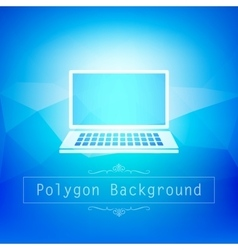 Blue polygon abstrac vector image