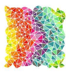 Bright rainbow triangles background vector image