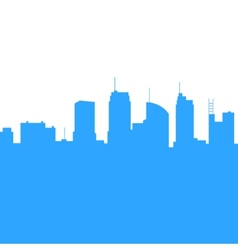 City Skylines Silhouette Background vector image